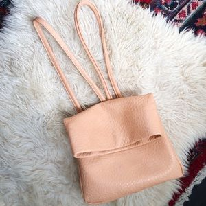 Anthro Remi & Reid Peach Faux Leather Backpack